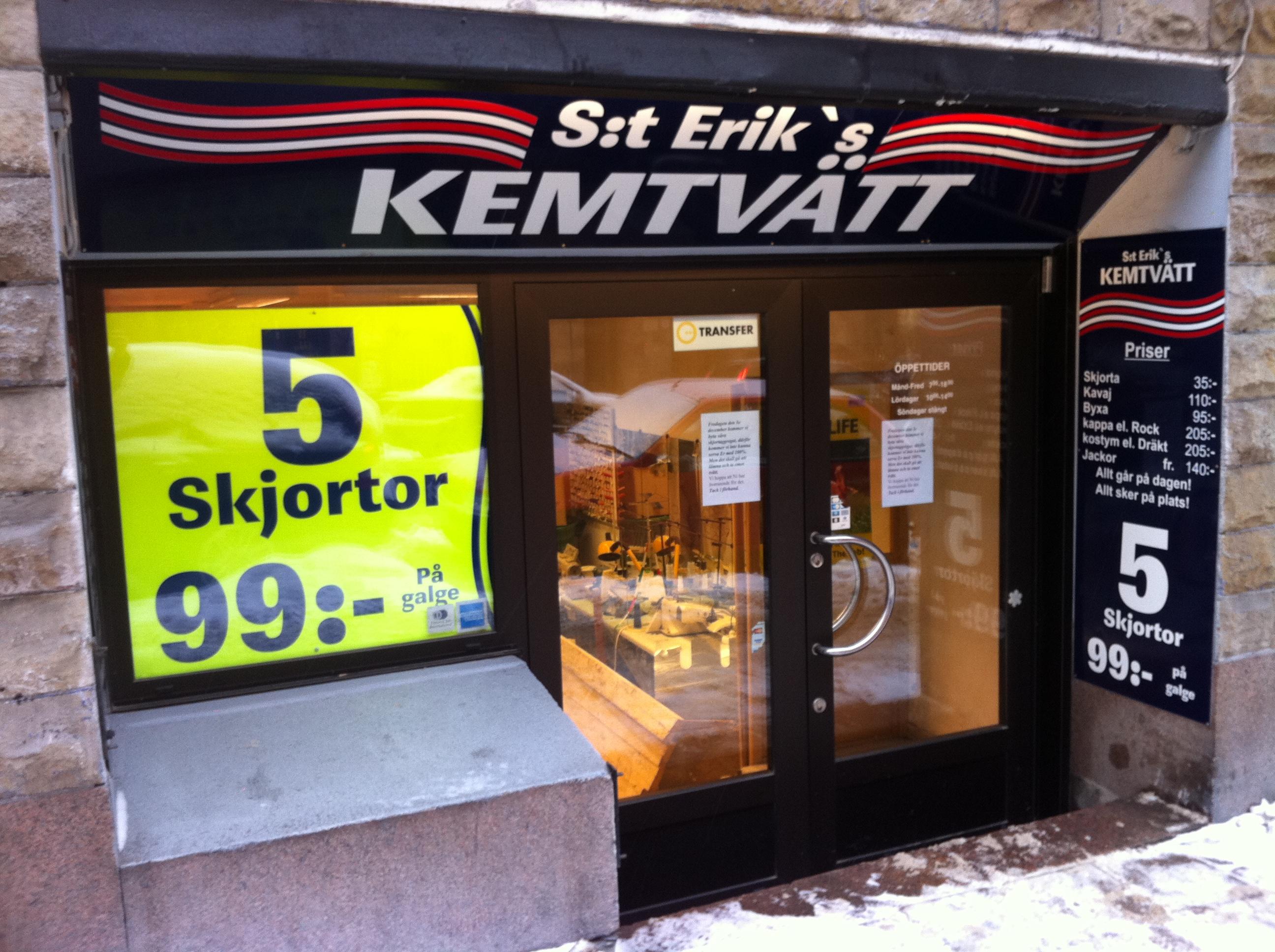 kemtvätt stockholm priser